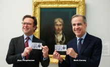 İngiltere'de yeni 20 sterlinlik banknotu piyasaya çıktı