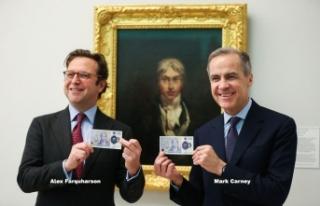 İngiltere'de yeni 20 sterlinlik banknotu piyasaya...