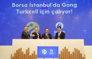 "Borsa İstanbul'da gong ""Turkcell"" için..."