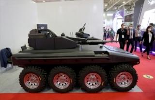 IDEF'te yerli elektrikli insansız kara aracı Alkar...