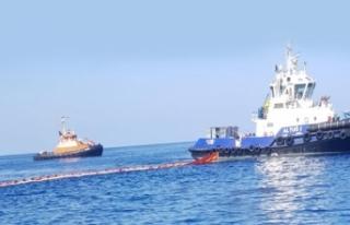 Akdeniz'de petrol sızıntısına bağlı kirlilik...