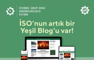 """İSO Yeşil Blog, """"sürdürülebilir sanayinin""""..."""