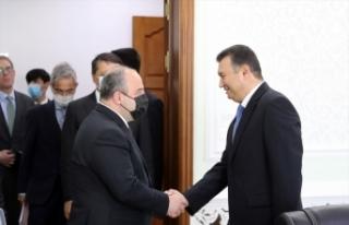 Bakan Varank, Tacikistan Başbakanı Rasulzoda ile...