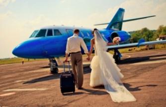 Rotayı çift belirliyor, jet uçağında düğün seçeneği