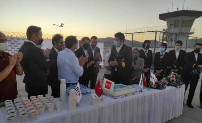 Gazipaşa-Alanya Havalimanı'na, Kish Air'denn ilk sefer
