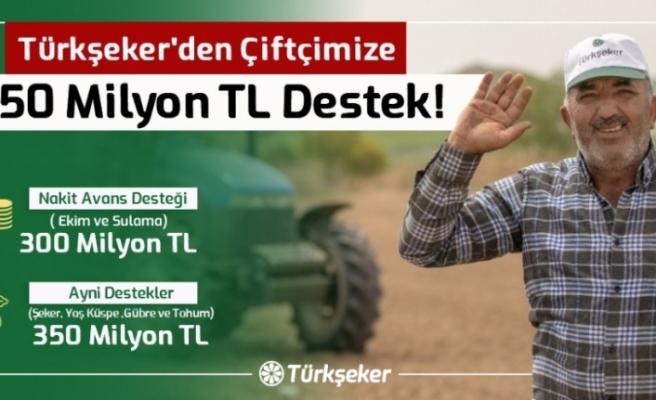 Türkşeker'den çiftçilere 650 milyon lira destek