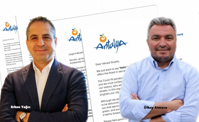 """Turistlere, Mektupla """"Antalya'ya Gelin"""" Çağrısı"""