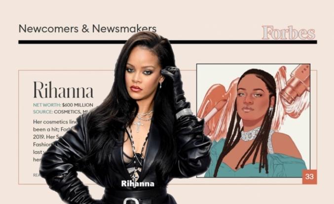 Rihanna, Forbes'in Kendi Girişimiyle Zengin Olan Kadınlar Listesinde